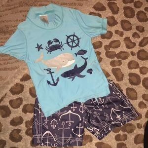 Carters toddler boys baby shark swim suit